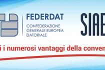 FEDERDAT-SIAE, convenzione rinnovata anche per il 2020